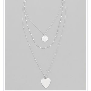 ❤️Silver Heart Layered Necklace